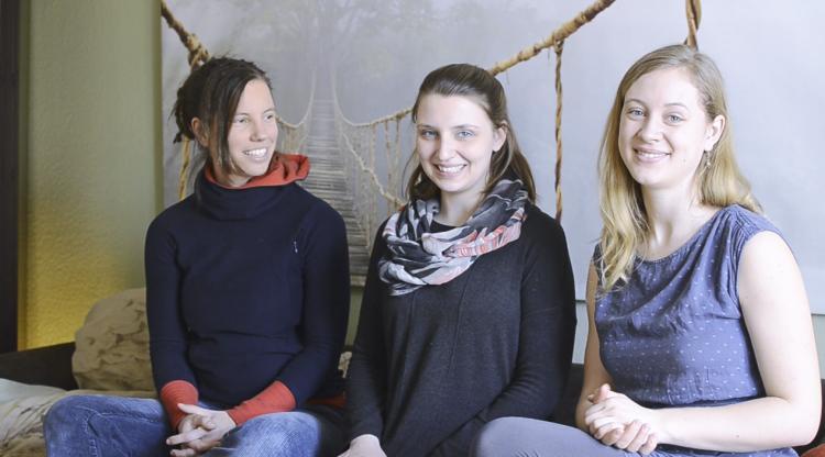 Sabrina Theophil, Ann-Kantrin Gnutzmann und Gina Jaschik (v. li.) haben das Rockzipfel-Projekt ins Leben gerufen