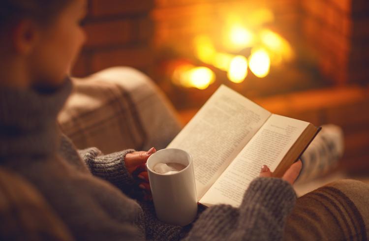 Gemütlich ein Buch lesen... Das ist, was wir wollen!