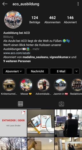 ACO-Azubis auf Instagram
