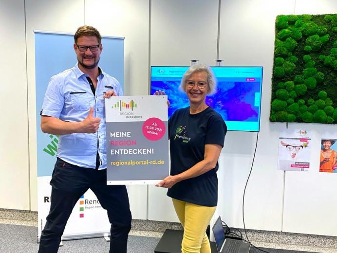 Jörn Hoppmann ist der verantwortliche Projektmanager, Petra Reiber die Geschäftsführerin von der Region Rendsburg GmbH